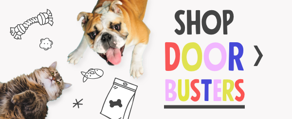 shop doorbusters on petflow.com